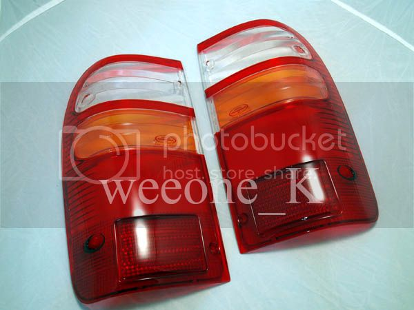 REAR TAIL LIGHT LENS LENSES TOYOTA HILUX TIGER MK4 98-04 CLEAR STANDARD COLOR