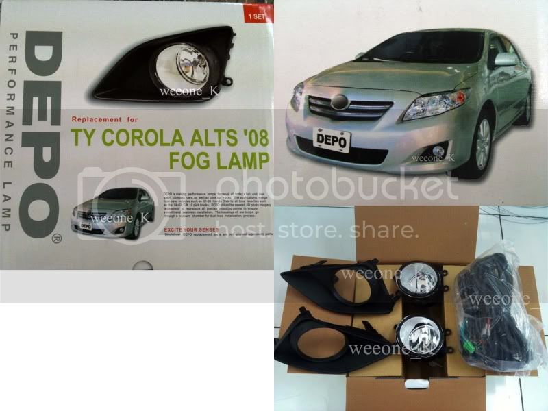 Spot Fog light Lamp TOYOTA NEW COROLLA ALTIS 07 